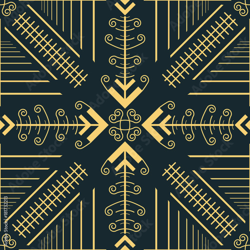 Valokuva  Seamless pattern of convergent openwork arrow shapes
