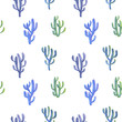 seamless pattern with watercolor drawing cactus