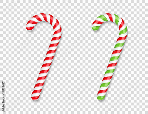 Red and Green Candy Canes Fototapet