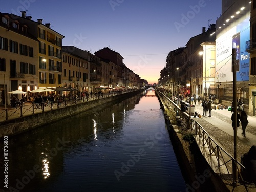 Fotomagnes Droga wodna w Mediolanie