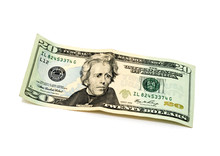 20 Dollars Banknote Isolated O...