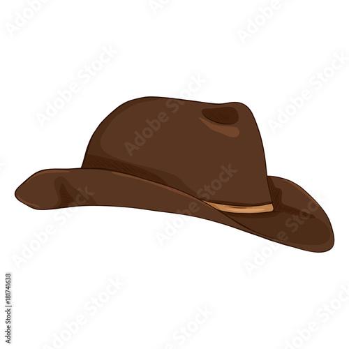 e5d7405387df4 Fototapeta Vector Set of Cartoon Classical Types Hats. Homburg ...