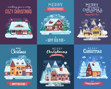 Christmas Cards Set With Fores...
