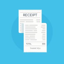 Icon Shopping Receipt. Invoice...