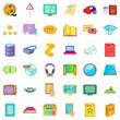 Folder icons set, cartoon style