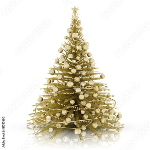 Decorazioni Natalizie Dorate.Decorazione Natalizia Albero Di Natale Dorato Con