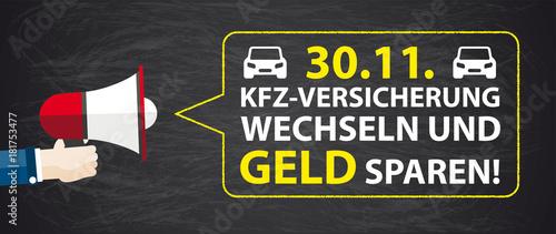 Foto KfZ Versicherung bis zum 30.11. wechseln und Geld sparen