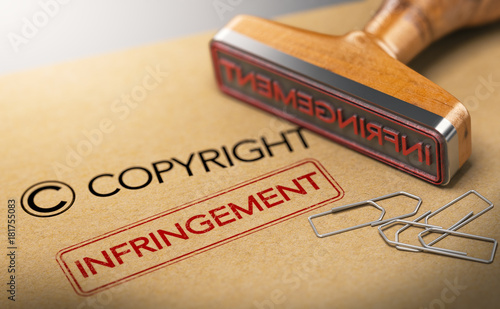 Fotomural Intellectual Property Rights Concept, Copyright Infringement