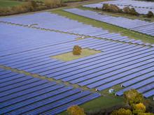 Aerial View Of A Modern Solar ...
