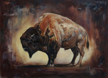 Standing Side View Bison Oil P...