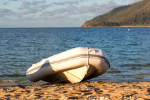 In The Sea Ocean The Rubber Dinghy