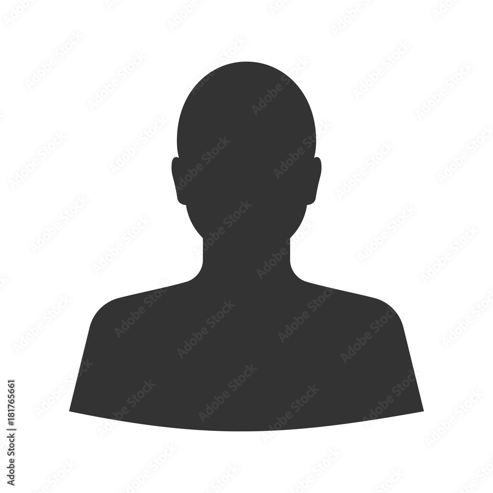 Fototapeta Man's silhouette glyph icon