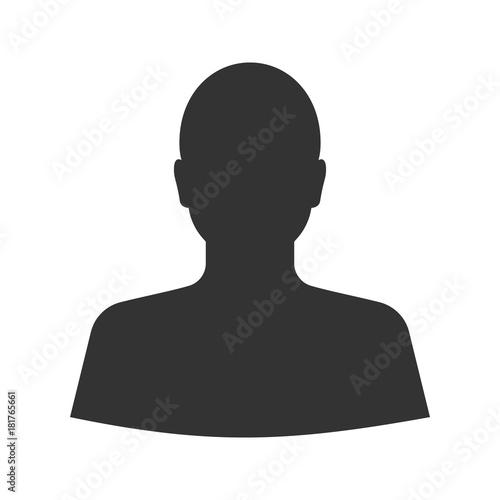 Stampa su Tela Man's silhouette glyph icon