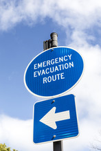 Sign Emergency Evacuation Route