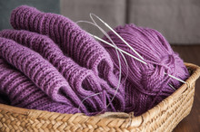 Knitting. Knitting Needles And...