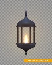 Vintage Dark Lantern With A Bu...