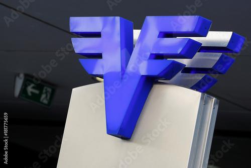 A Volksbank Logo Is Seen At The Volksbank Wien Headquarters In