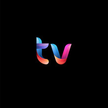 Initial Lowercase Letter Tv, C...