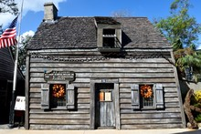 Oldest Wooden School House At St. Augustine, Florida