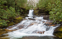 Waterfall In The Chattahoochee National Forest Of Georgia
