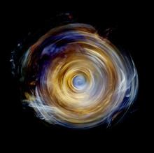 Yellow Spinning Wheel Vortex Of Light