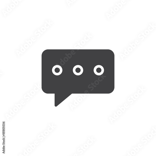 Text message icon vector, filled flat sign, solid pictogram