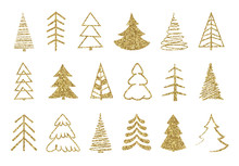 Gold Christmas Tree Set. Gold ...