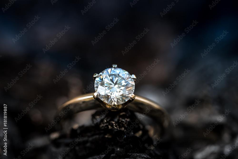 Fototapety, obrazy: Ring with diamond