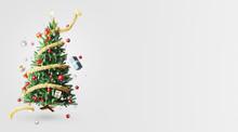 Albero Di Natale Con Addobbi E Luci