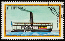 Old Passenger Steamboat On Pos...