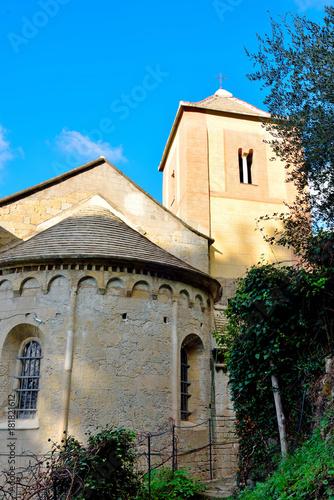 Poster Monument medieval church of San Nicolò Capodimonte san rocco of camogli
