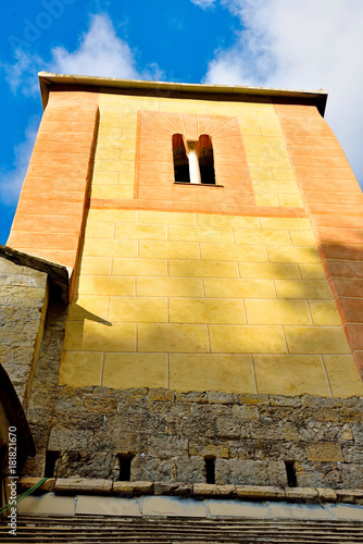 In de dag Monument medieval church of San Nicolò Capodimonte san rocco of camogli