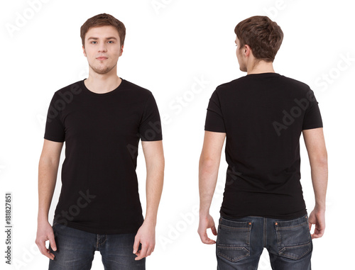 T Shirt Template Front And Back View Mock Up Isolated On White