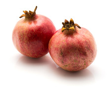Two Pomegranate Isolated On White Background.
