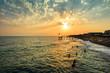 Sonnenuntergang im Sommerurlaub in der Türkei