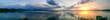 canvas print picture - Panoramaaufnahme über den Chiemsee bei Sonnenuntergang