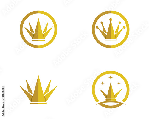 Crown Logo Template vector illustration Fototapet