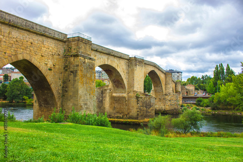Bridge. River Minho. Ourense city, Galicia, Spain. Picture taken – 29 july 2017.