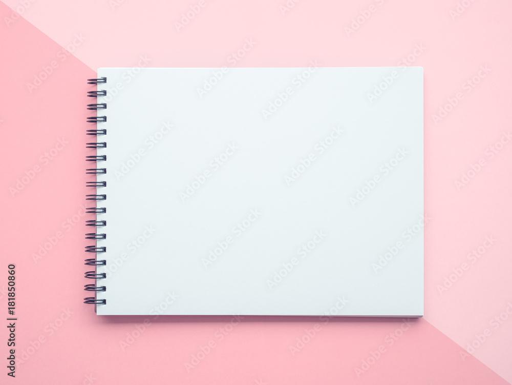 Fototapety, obrazy: Notepad on pastel background
