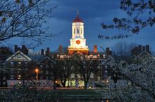 Harvard University At Night. D...