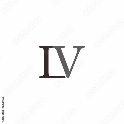 Valokuva  L V Letter Logo Vector