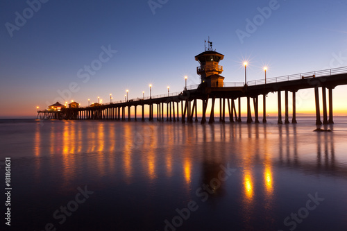 Obraz na dibondzie (fotoboard) Sunset Huntington Beach