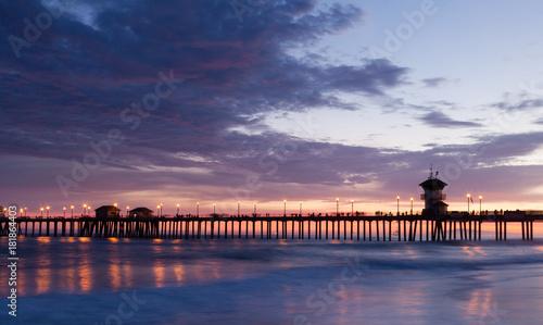 Obraz na dibondzie (fotoboard) Sunset Huntington Beach