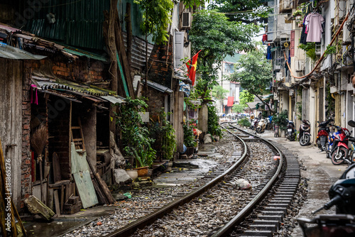 Train Street Hanoi Vietnam