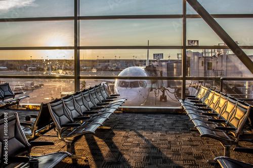 Zdjęcie XXL Miejsce oczekiwania na lotnisko