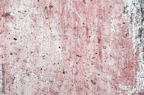 Abstract Old Pink Paint On White Cement Wall Background