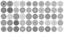 Big Vector Set Of Round Patter...