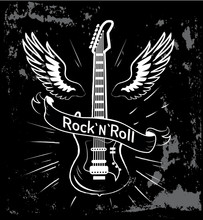 Rock N Roll Guitar And Wings V...