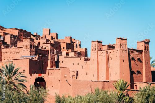 Photo  amazing ouarzazate kasbah fortification, morocco