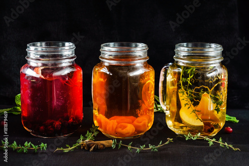 Printed kitchen splashbacks Spices fruit alcohol drink